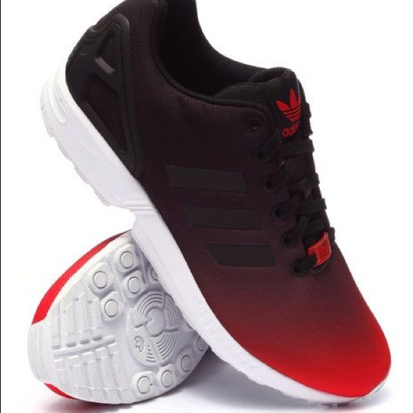 Adidas Shoes Red Black Fade Mens Zx Flux 11 Poshmark